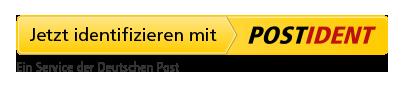 Jetzt identifizieren mit POSTIDENT. Ein Service der Deutschen Post